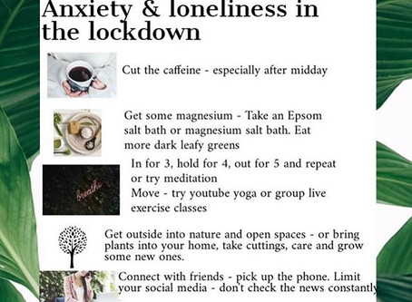 Tips for managing anxiety & loneliness
