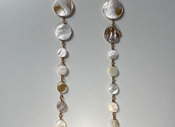 FULL MOON PREHNITE Earrings