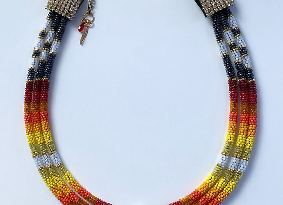 YEAR OF THE OX TRIPLE ROPE Beaded Necklace