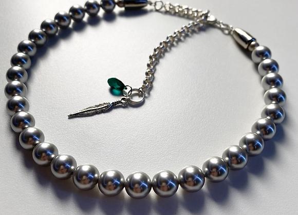 PLATINUM EMERALD Pearl Necklace