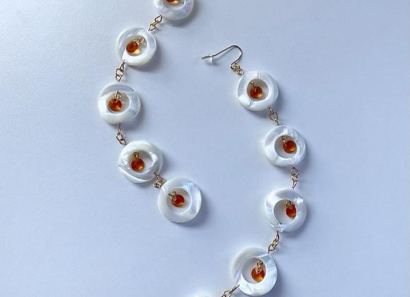 NOOKOMIS'S AGATES DAZZLE Earrings