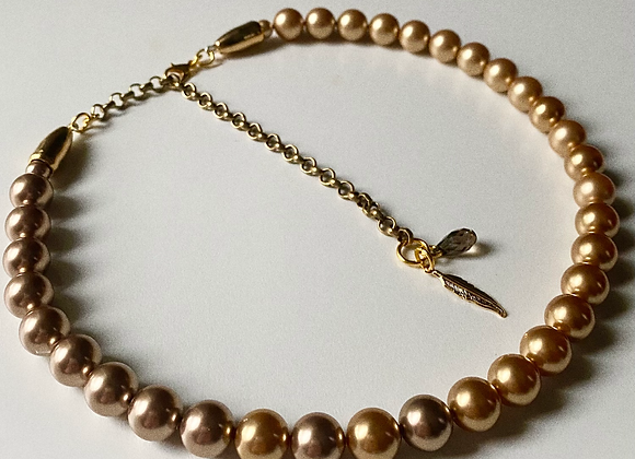"""WxMTN Pearl Necklace 14"""""""