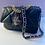 Thumbnail: GOLD FANG Beaded Appliqué Wolf Handbag