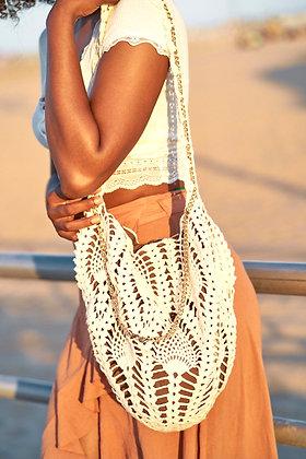 Artisanal Macrame Lace Shoulder Bag