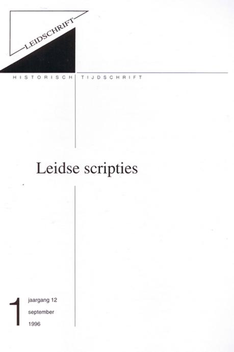 12.1 Leidse scripties