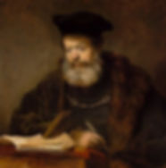420px-Rembrandt_Scholar_at_the_Lectern.j