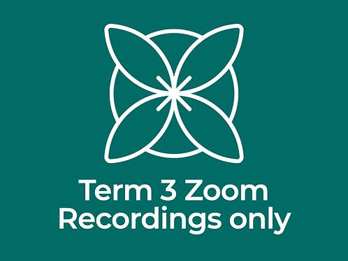 Term 3 Zoom Qigong & Tai Chi Recordings Only