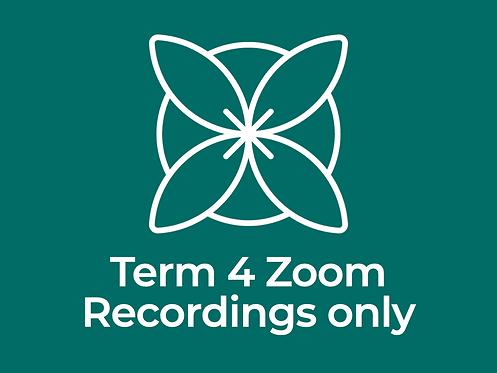 Term 4 Zoom Qigong & Tai Chi Recordings Only