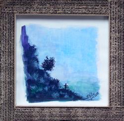 Paysage en silhouette