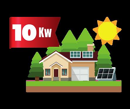 10 kWp-os rendszer 31.500.-ft villanykiváltásra