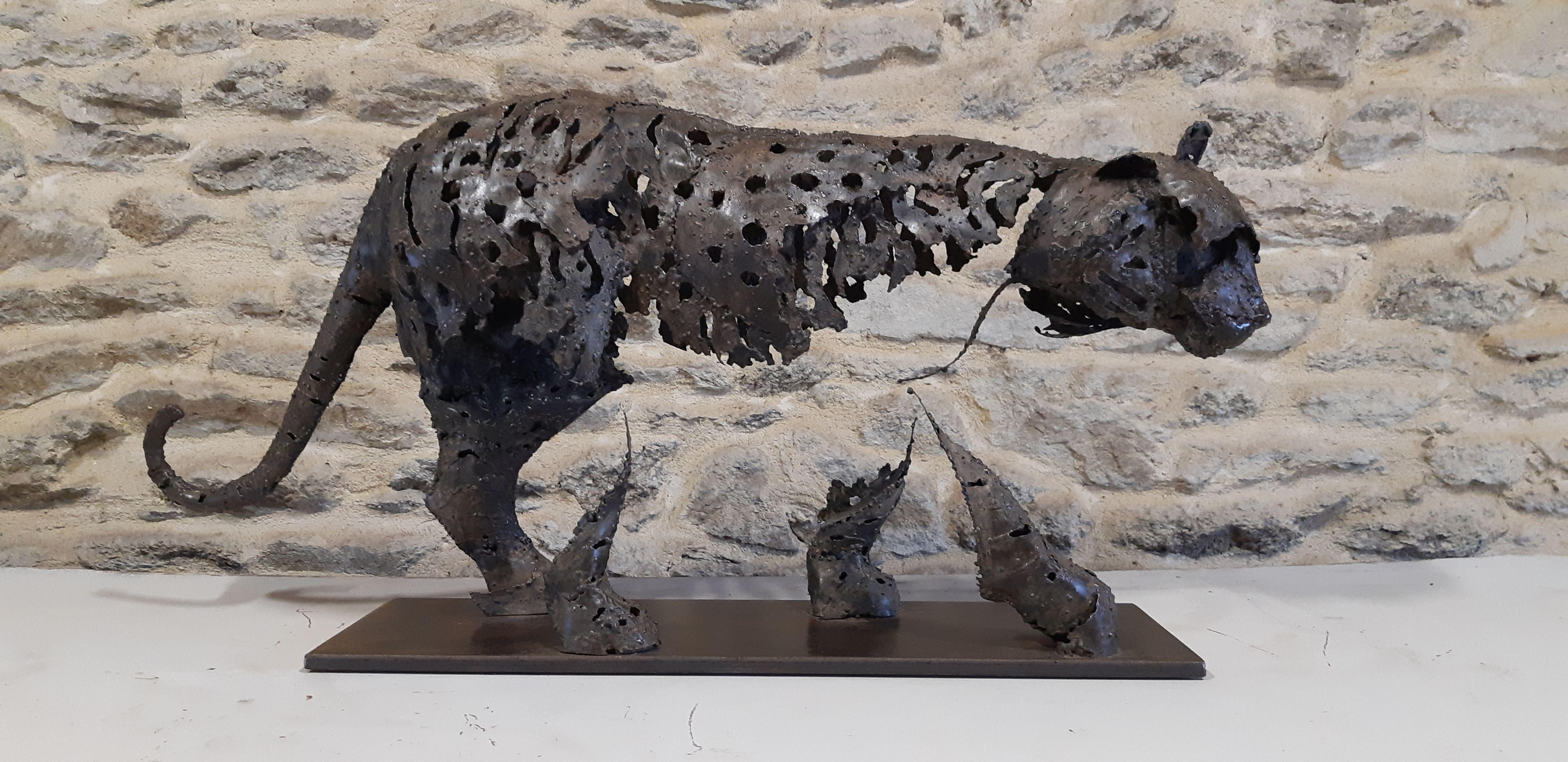 chesneau - tigre - 73 x 18 x h 36 cm -