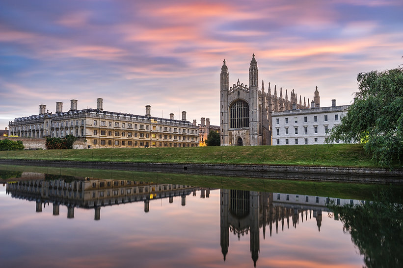 Clare & King's College with beautiful sky at sunrise in Cambridge, UK.jpg