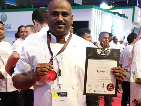 Congratulations to our very own Chef Rajesh Narasimman!