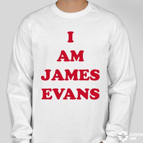 """I AM JAMES EVANS"" MEN'S LONG SLEEVE"