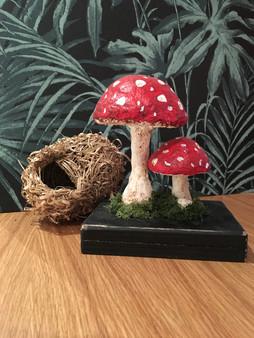 dorure papier maché champignon