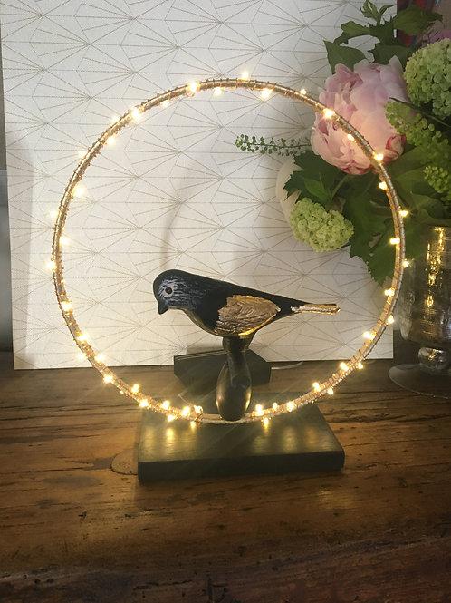Luminaire oiseau noir