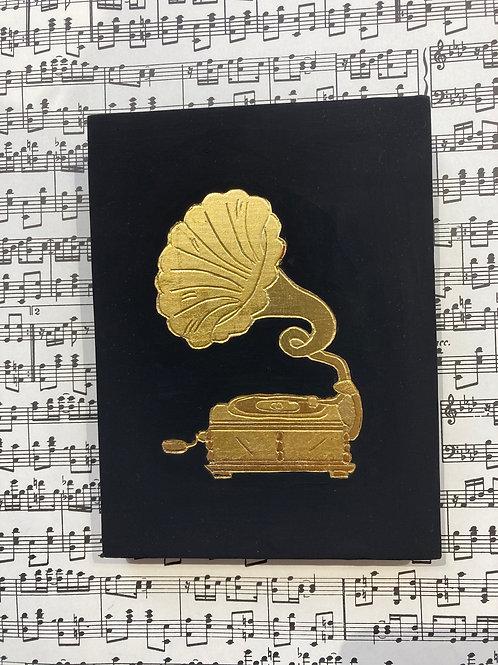Cadre dorure Gramophone