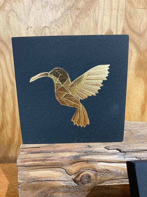 Cadre origami oiseau