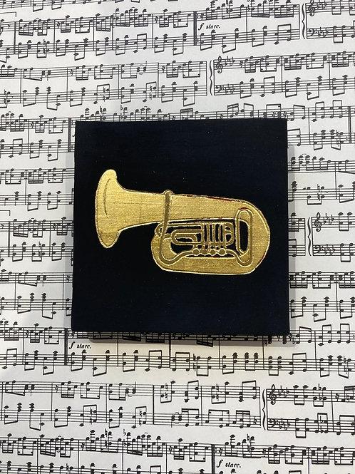 Cadre dorure trompette