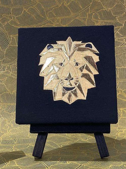 Cadre origami lion