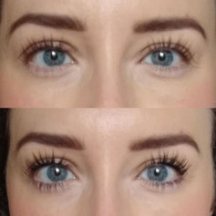 Client selfie 🤳- one week on with and without mascara. Who needs lash extensions when you can have an LVL treatment. No adhesives.jpg