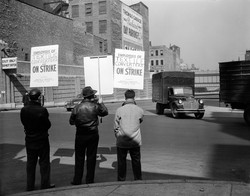 1950's Striking Textile workers NYC