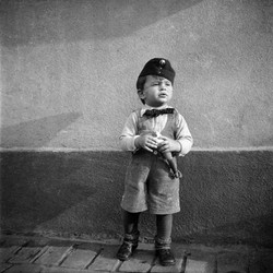 Hungarian Boy with Military Hat