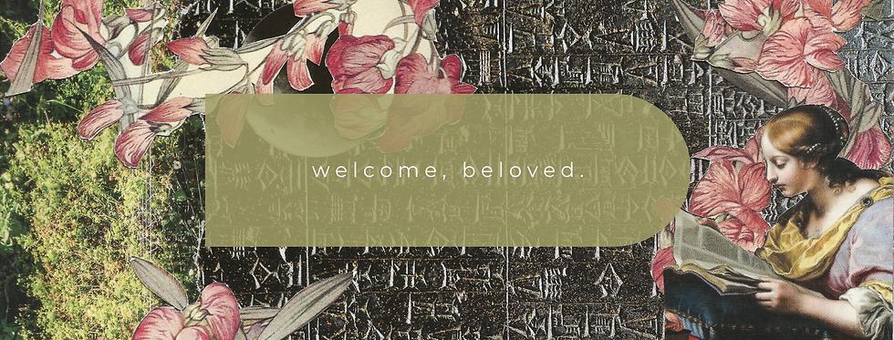 """welcome, beloved"" collage art"