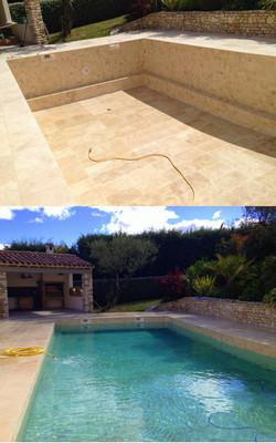 rénovation piscine Avant/Après