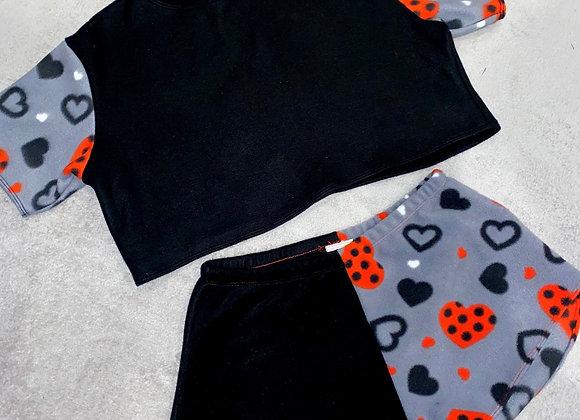 The short sleeved boxy crop top & mini shorts set