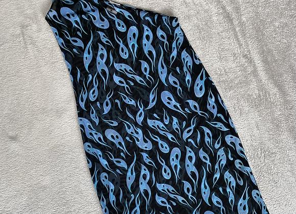 The one shoulder plunge dress