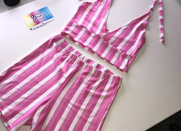 The Tie neck bralette & hot pants set