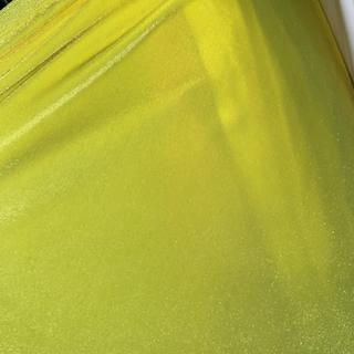 Neon yellow velvet