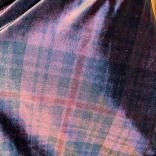 Plum tartan velvet