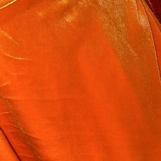 Neon orange velvet