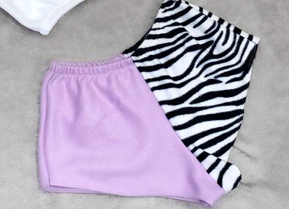 Fleece mini shorts