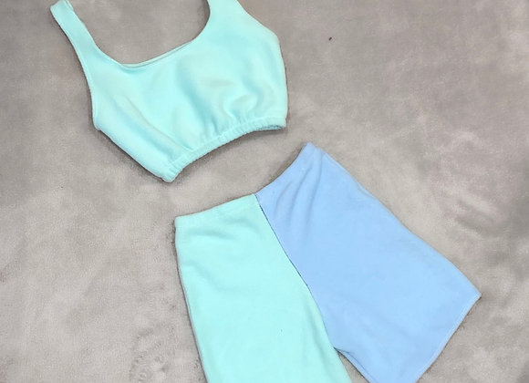 The scooped cami top & boyfriend shorts set