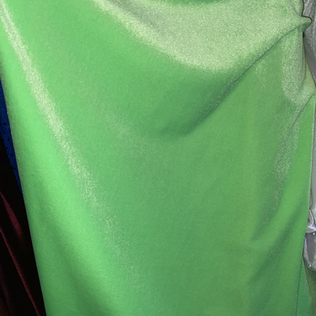 Neon green velvet