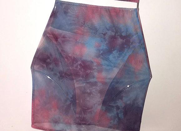 The Mesh mini skirt & high leg pants set