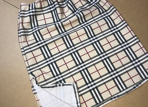 The side split mini skirt