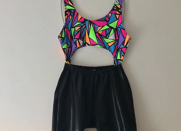 The Scoop neck cutout cycle shorts unitard