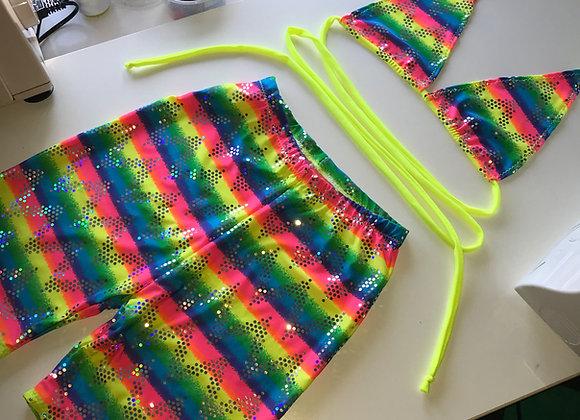 The Multiway bikini top & cycle shorts set