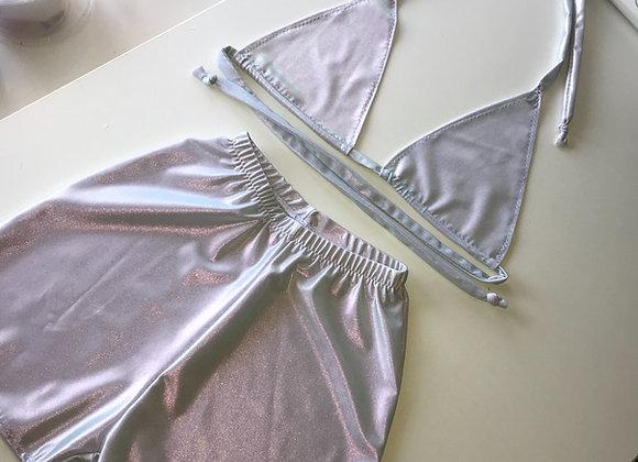 Multiway bikini top & hot pants set