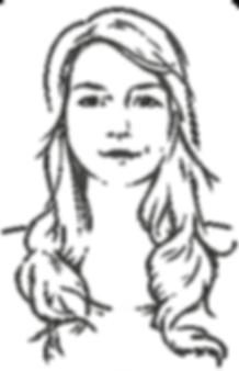 Potrait Claudia Zech Illustration Vektorgrafik