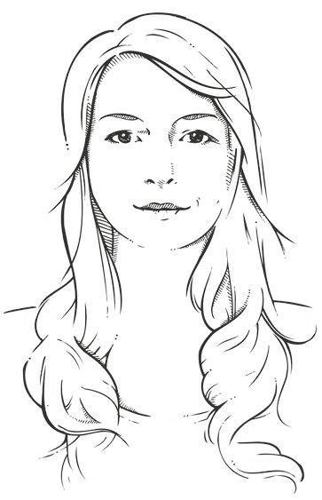 Potrait Claudia Zech Illustration Vektorgrafik