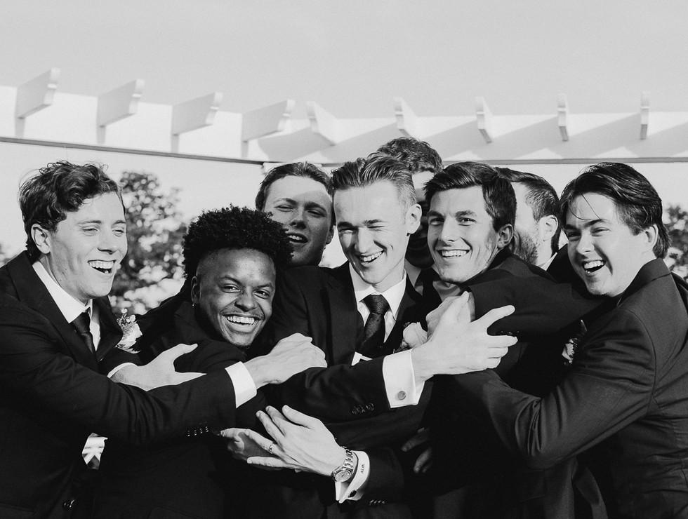 groomsmen candid photo