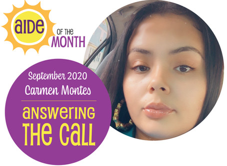 September 2020 Aide of the Month — Carmen Montes