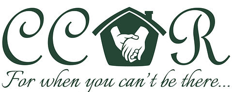 ccor logo, house, hands, for when you can't be there