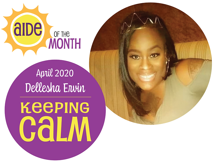 "Dellesha Ervin and the caption ""Keeping Calm"""