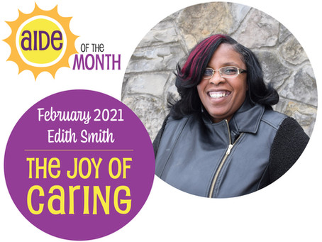 February 2021 Aide of the Month – Edith Smith
